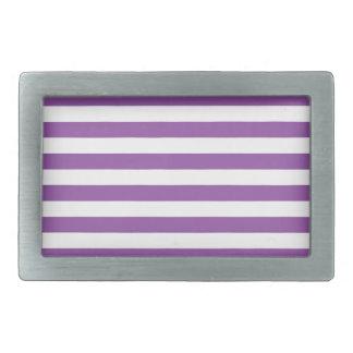 Purple and White Stripe Pattern Belt Buckle