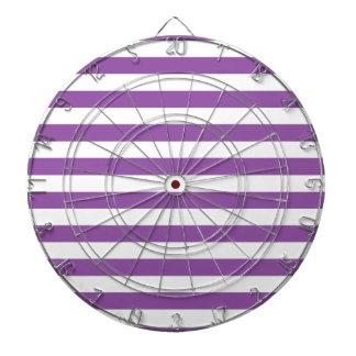 Purple and White Stripe Pattern Dartboard