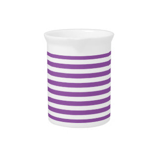 Purple and White Stripe Pattern Pitcher
