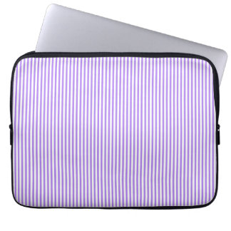 Purple and White Stripes Laptop Sleeves
