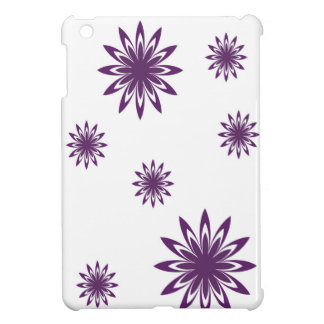 Purple and white sunflower iPad mini cover