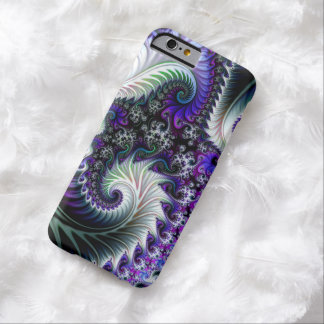 PURPLE AND WHITE SWIRL FRACTAL BARELY THERE iPhone 6 CASE