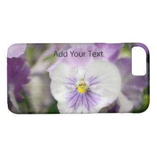Purple and White Violas by Shirley Taylor iPhone 8/7 Case