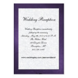 Purple and White Wedding Enclosure Card Business Card