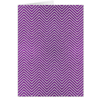 Purple and White Zig Zag Glitter Card
