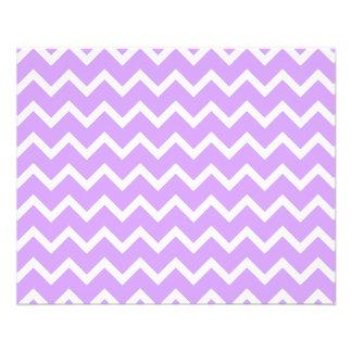 Purple and White Zigzag Stripes. 11.5 Cm X 14 Cm Flyer