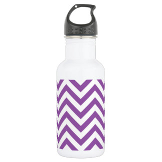 Purple and White Zigzag Stripes Chevron Pattern 532 Ml Water Bottle