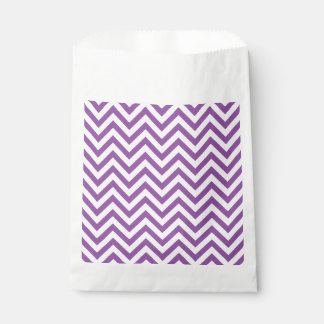 Purple and White Zigzag Stripes Chevron Pattern Favour Bag