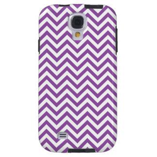 Purple and White Zigzag Stripes Chevron Pattern Galaxy S4 Case