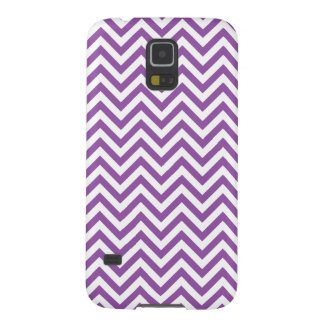 Purple and White Zigzag Stripes Chevron Pattern Galaxy S5 Cases