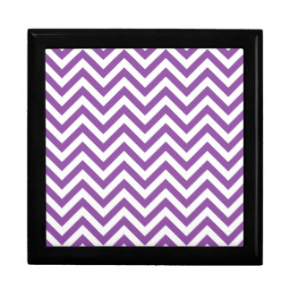Purple and White Zigzag Stripes Chevron Pattern Gift Box