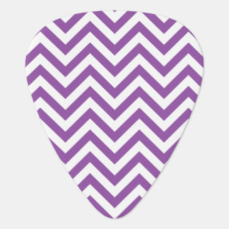 Purple and White Zigzag Stripes Chevron Pattern Guitar Pick