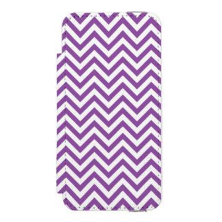 Purple and White Zigzag Stripes Chevron Pattern Incipio Watson™ iPhone 5 Wallet Case