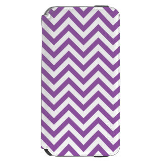 Purple and White Zigzag Stripes Chevron Pattern Incipio Watson™ iPhone 6 Wallet Case