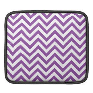 Purple and White Zigzag Stripes Chevron Pattern iPad Sleeve