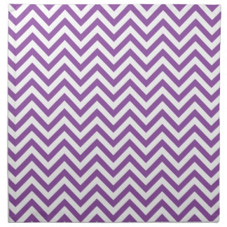 Purple and White Zigzag Stripes Chevron Pattern Napkin