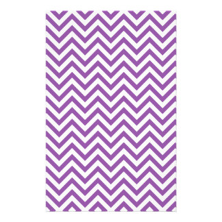 Purple and White Zigzag Stripes Chevron Pattern Stationery
