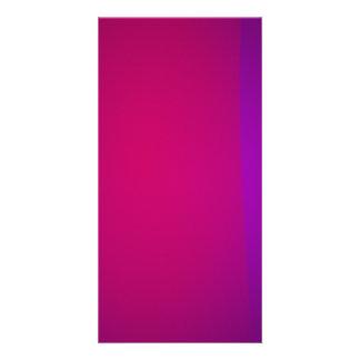 Purple and Wine Photo Card