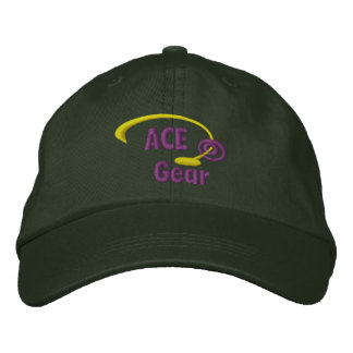 Purple and Yellow Ace Gear Embroidered Hat