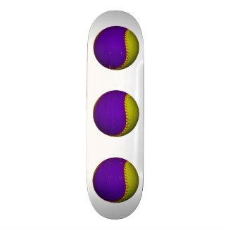 Purple and Yellow Baseball Skate Board Decks