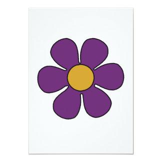 Purple and Yellow Daisy Invitations