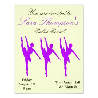 Purple and Yellow Dance Recital Invitation