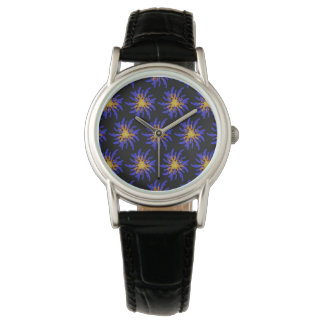 Purple and Yellow Fireworks Abstract Pattern Watch