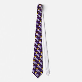 Purple and Yellow Floral Tie