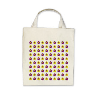 Purple and yellow flowers bag