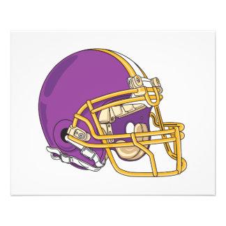 purple and yellow gold football helmet vector desi 11.5 cm x 14 cm flyer