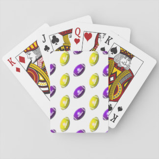 Purple and Yellow Gold Football Pattern Playing Cards