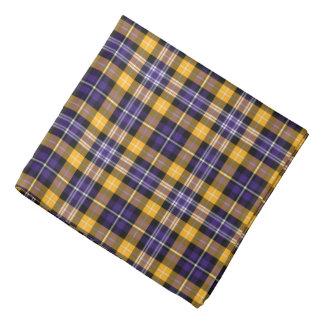Purple and Yellow Gold Sporty Plaid Bandana