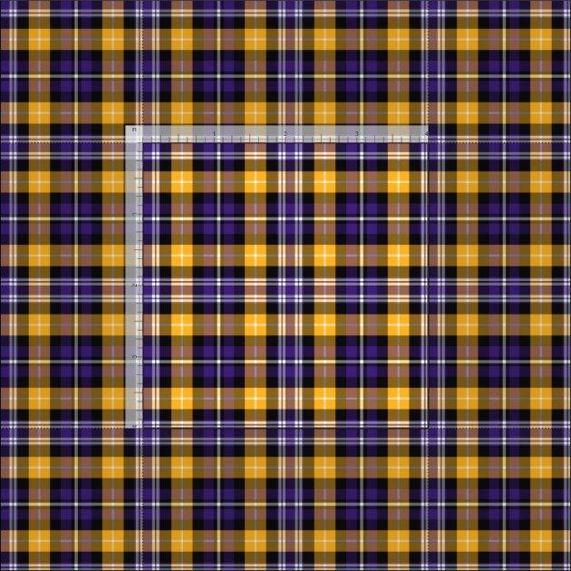 Purple and Yellow Gold Sporty Plaid Fabric   Zazzle.com.au