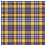 Purple and Yellow Gold Sporty Plaid Fabric