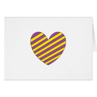 Purple and Yellow Heart Greeting Card