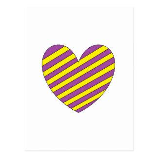 Purple and Yellow Heart Postcard