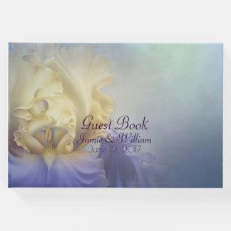 Purple and Yellow Iris Wedding Guest Book