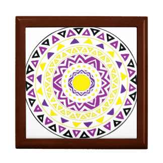 Purple and Yellow Mandala Gift Box
