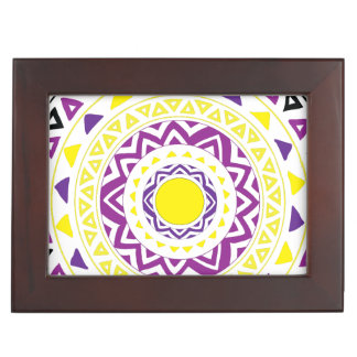 Purple and Yellow Mandala Keepsake Box