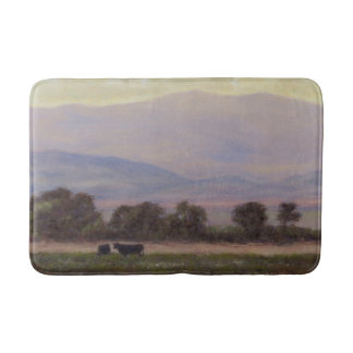 Purple and Yellow Mountains Bath Mat