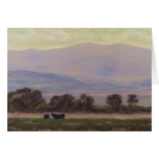 Purple and Yellow Mountains Greeting Cards