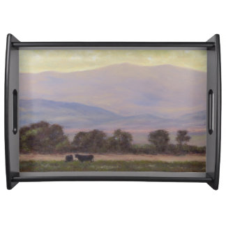 Purple and Yellow Mountains Serving Tray