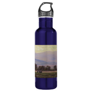 Purple and Yellow Mountains Water Bottle