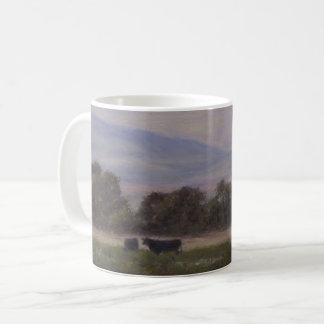 Purple and Yellow Mountains with Cows Mug