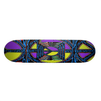 Purple and Yellow Mullti-Colored.Peace Sign Skate Decks