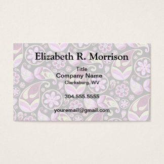 Purple and Yellow Paisley Business Card