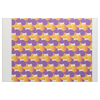 Purple and Yellow Pattern Colorful Design Fabric