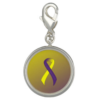 Purple and Yellow Ribbon Support Awareness