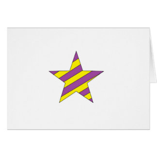 purple and yellow star greeting card