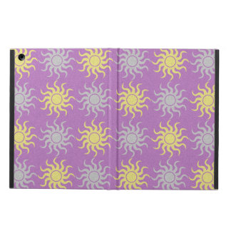 Purple and yellow sun pattern ipad air case